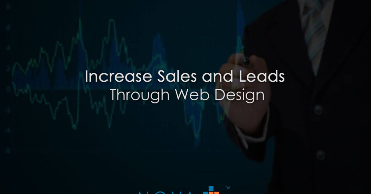 Increase Sales and Leads Through Web Design