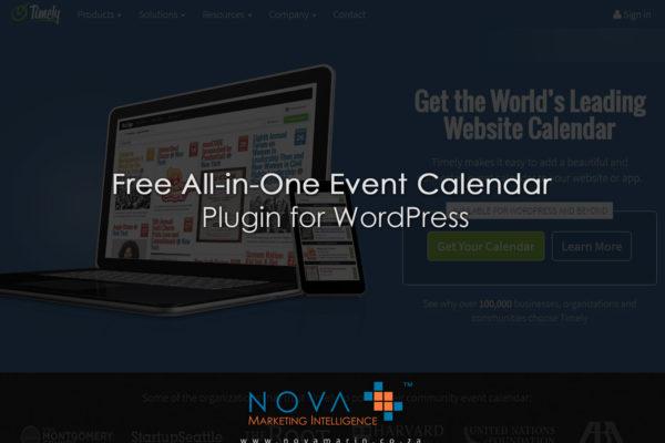 Free All-in-One Event Calendar Plugin for WordPress