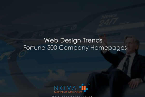 Web Design Trends - Fortune 500 Company Homepages