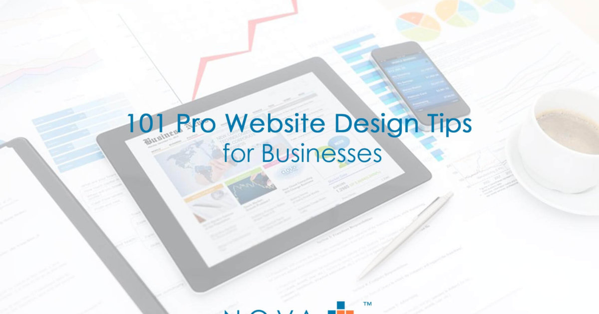 101 Pro Website Design Tips for Businesses