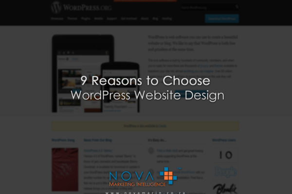 9 Reasons to Choose WordPress Website Design