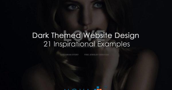 Dark Themed Website Design 21 Inspirational Examples