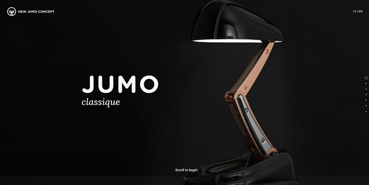 New JUMO Concept dark themed website design