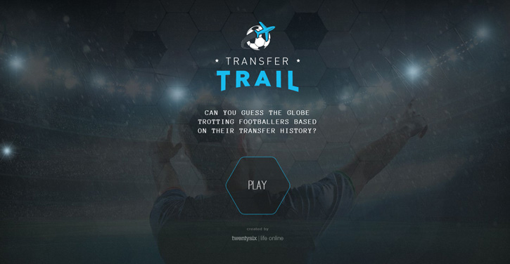 Transfer Trail dark themed website design