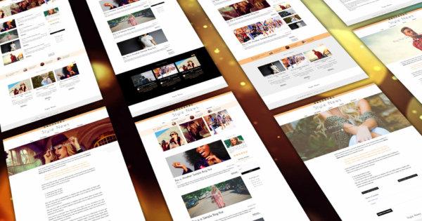 Style News Web Design Study