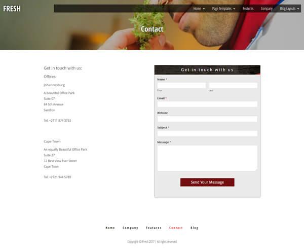 Fresh Magazine Style Blog WordPress Theme | Website Template - Contact Page Layout - Nova Marketing Intelligence