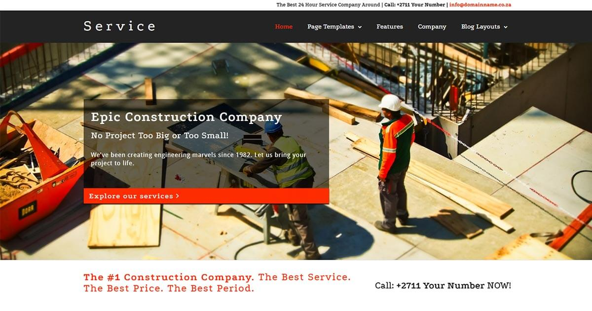 Service a Multipurpose WordPress Theme Website Template from Nova Marketing Intelligence