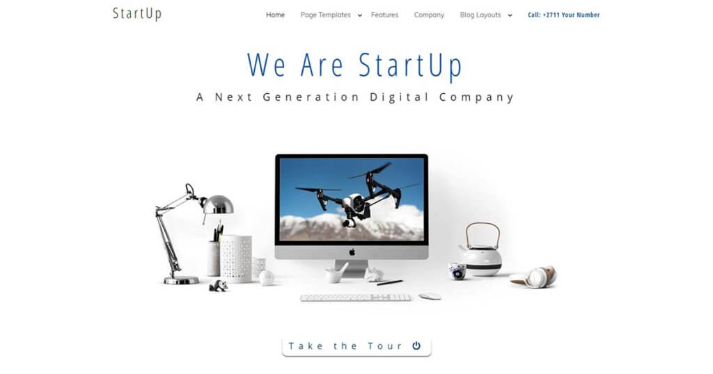 Startup a Minimalist WordPress Theme Website Template from Nova Marketing Intelligence