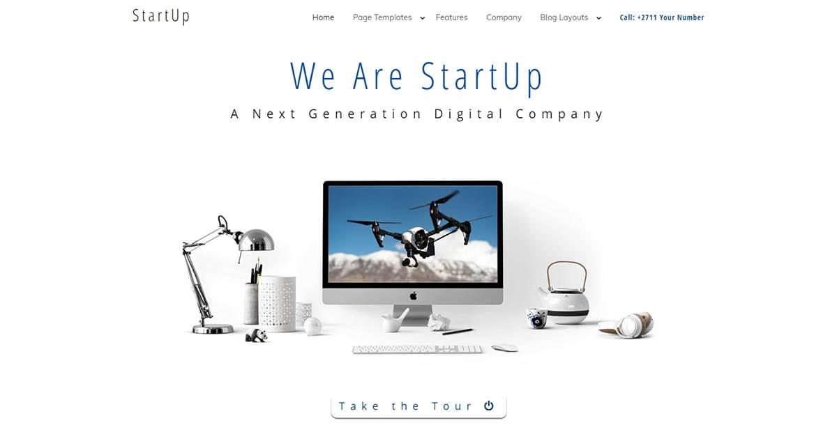 Startup a Minimalist WordPress Theme Website Template from Nova Marketing Intelligence