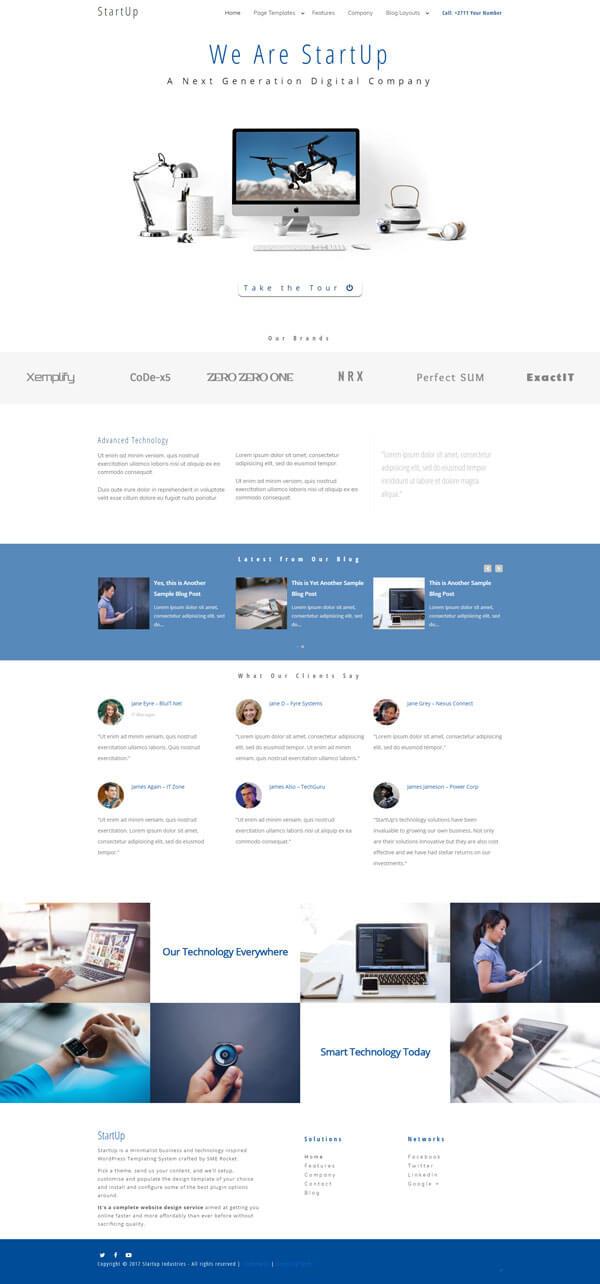 Startup WordPress Theme | Website Template - Home Page Layout - Nova Marketing Intelligence