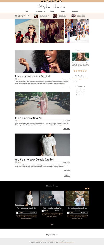 Style News Magazine Style Blog WordPress Theme | Website Template - Home Page Layout 03 - Nova Marketing Intelligence