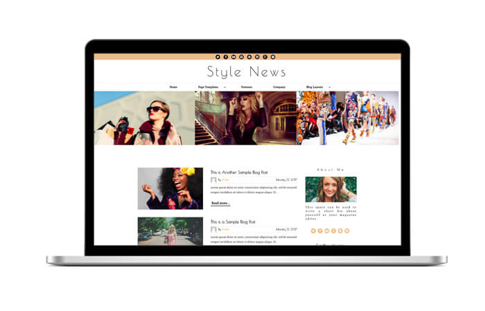 Style News WordPress Theme | Website Template | Macbook Pro - Nova Marketing Intelligence