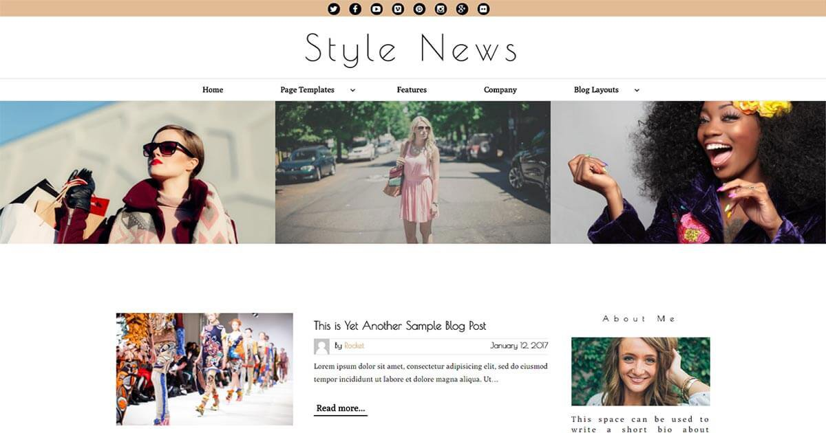 Style News is a Magazine WordPress Theme Website Template from Nova Marketing Intelligence