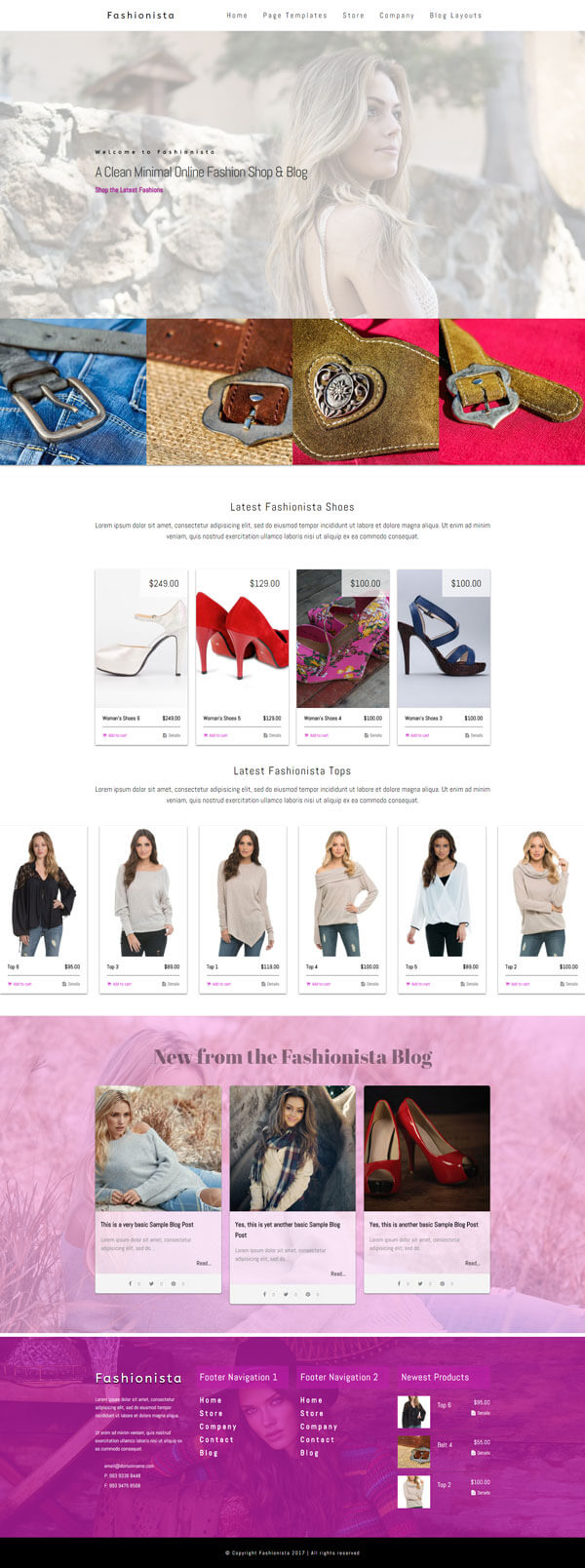 Fashionista - Fashion WordPress Theme | Website Template - Home Page Layout 02 - Nova Marketing Intelligence
