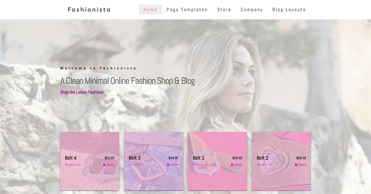 Fashionista - eCommerce Fashion WordPress Theme Website Template from Nova Marketing Intelligence