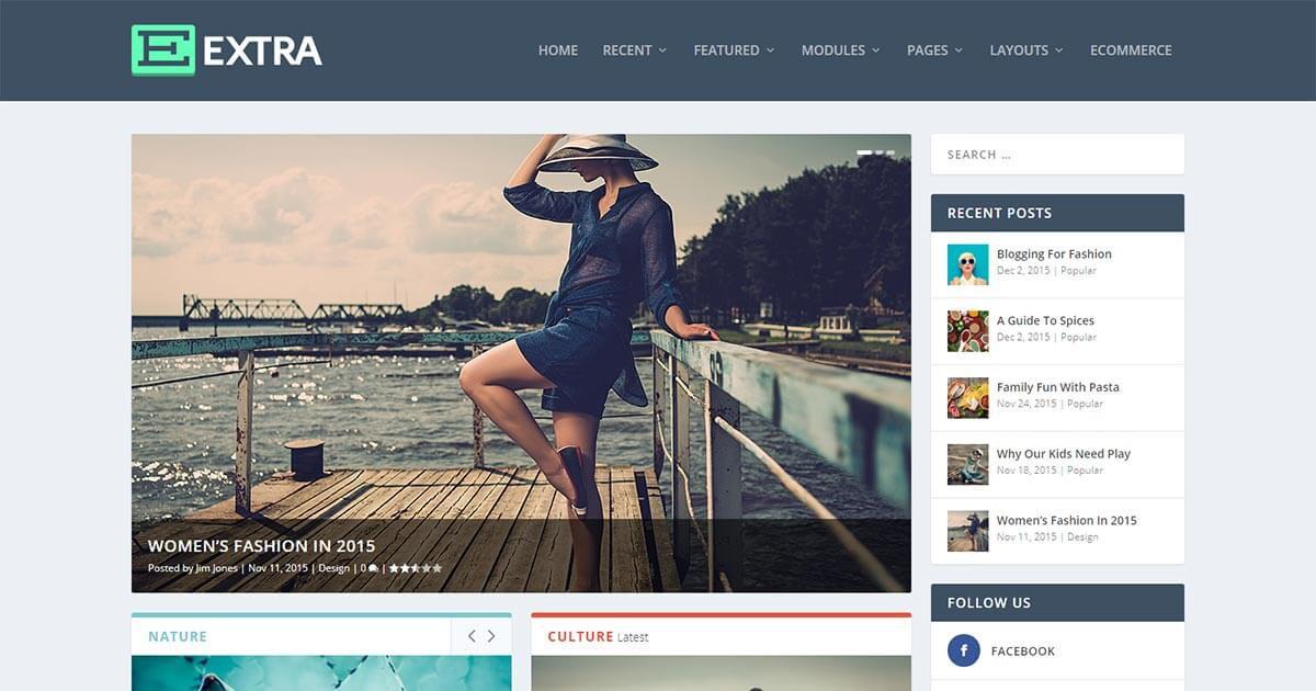Extra - Magazine WordPress Theme | Website Template