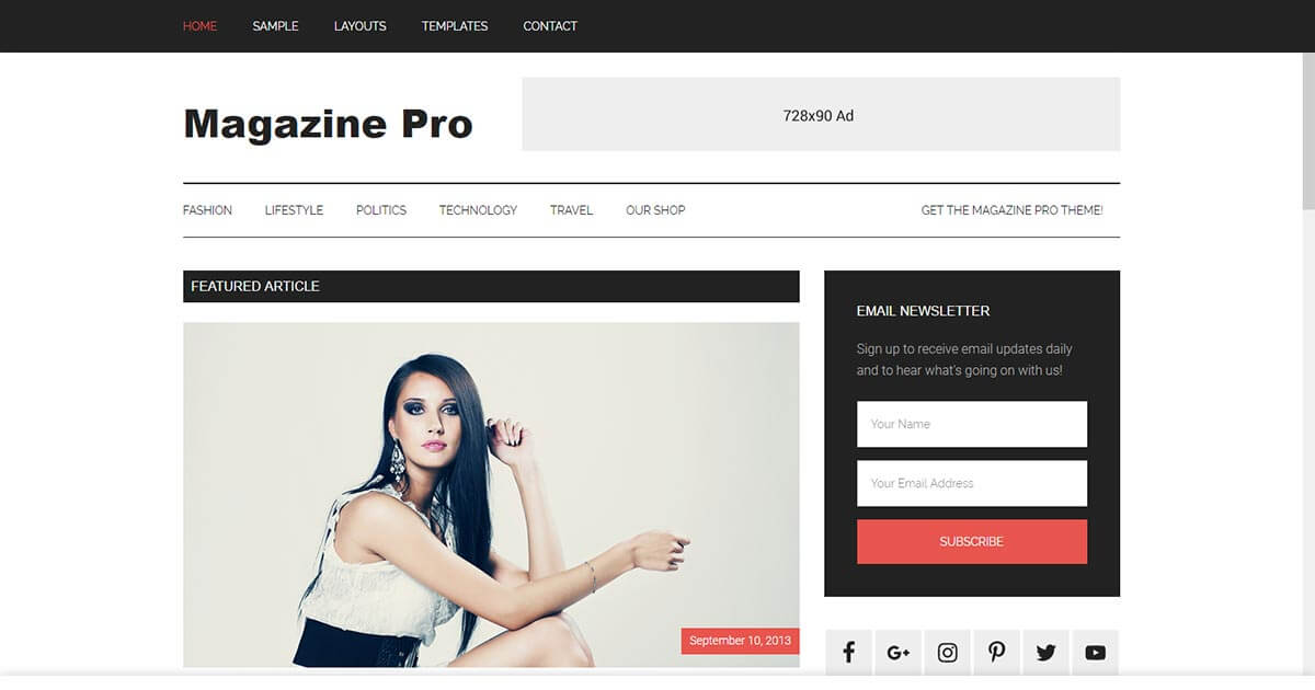 Magazine Pro - Magazine WordPress Theme | Website Template