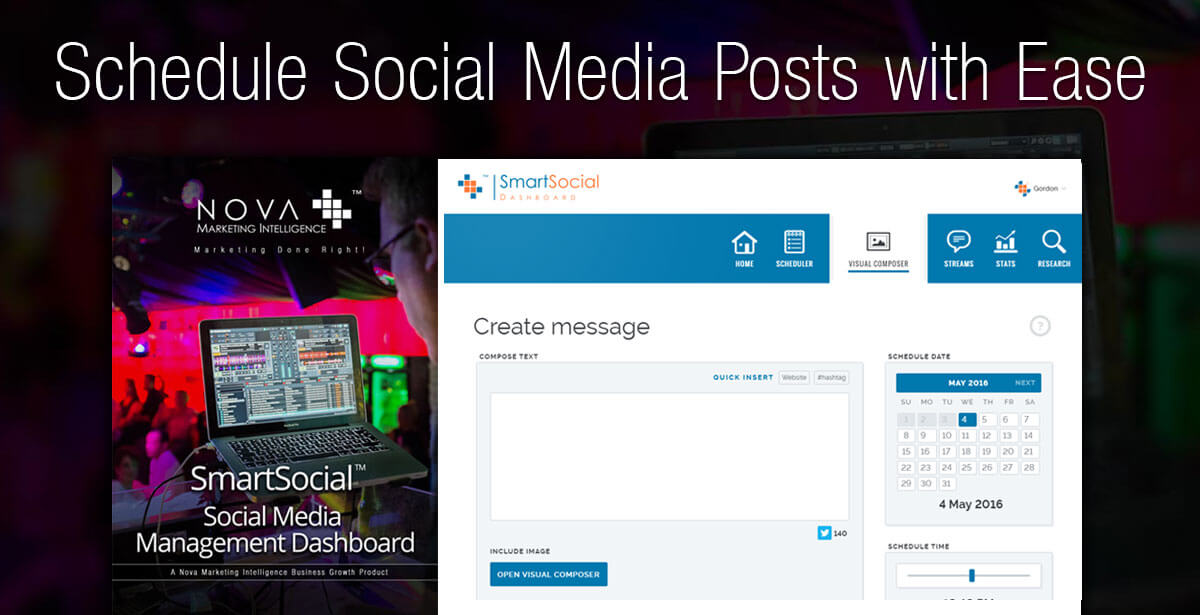 Schedule Social Media Posts with Ease - SmartSocial Social Media Management Dashboard