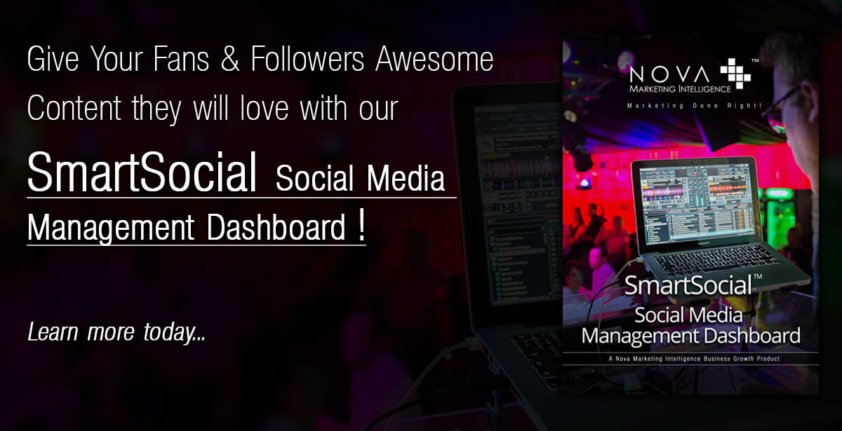 Give Your Fans and Followers Awesome Content they will love with our SmartSocial Social Media Management Dashboard