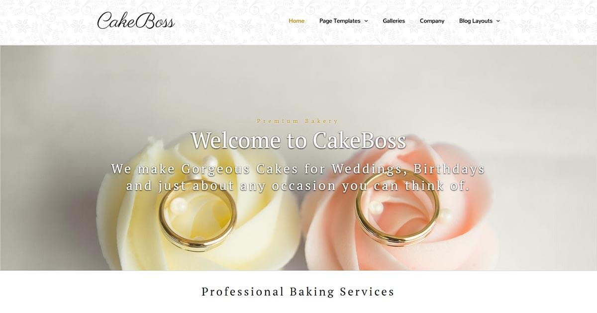 CakeBoss Bakery WordPress Theme Website Template from Nova Marketing Intelligence