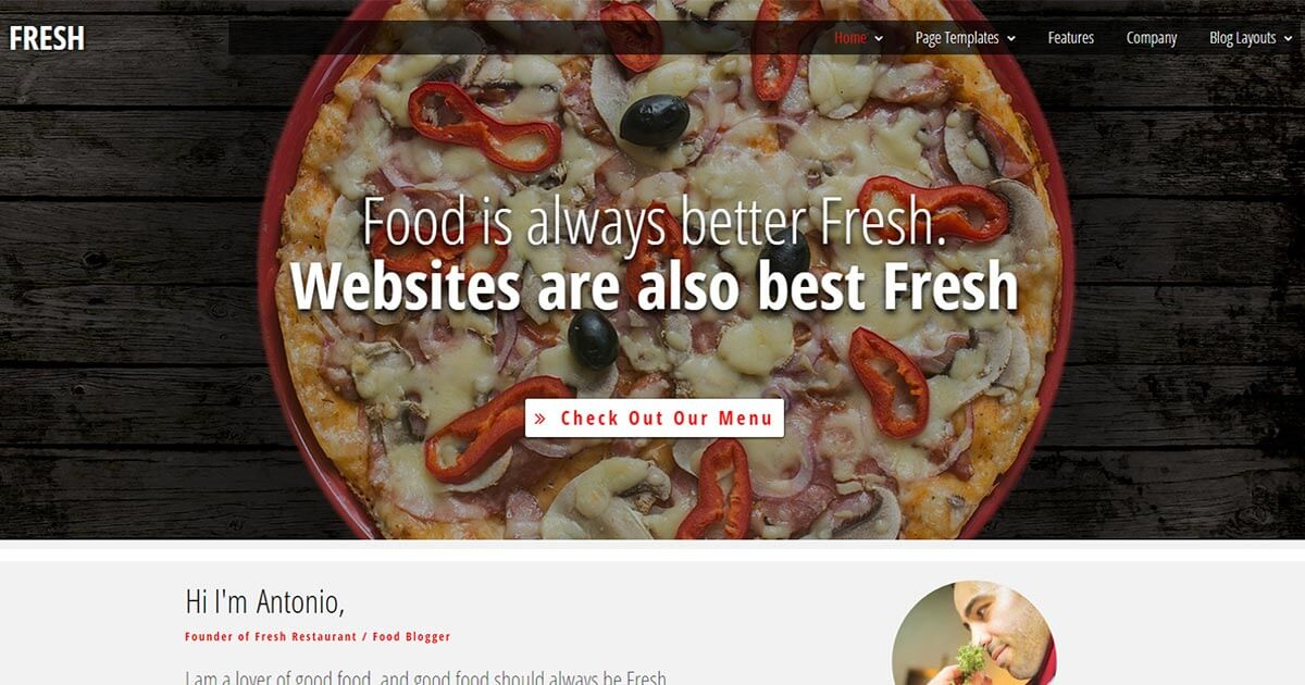 Fresh is a Restaurant WordPress Theme Website Template from Nova Marketing Intelligence