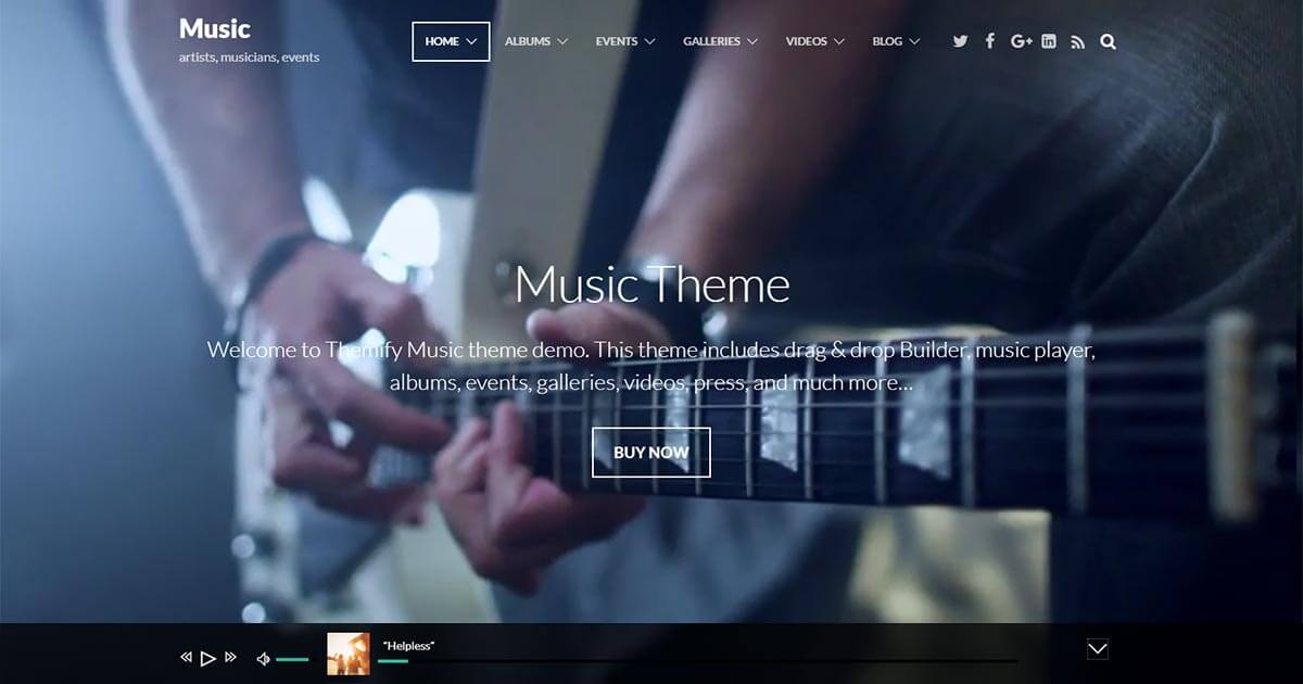 Music - Music WordPress Theme | Website Template