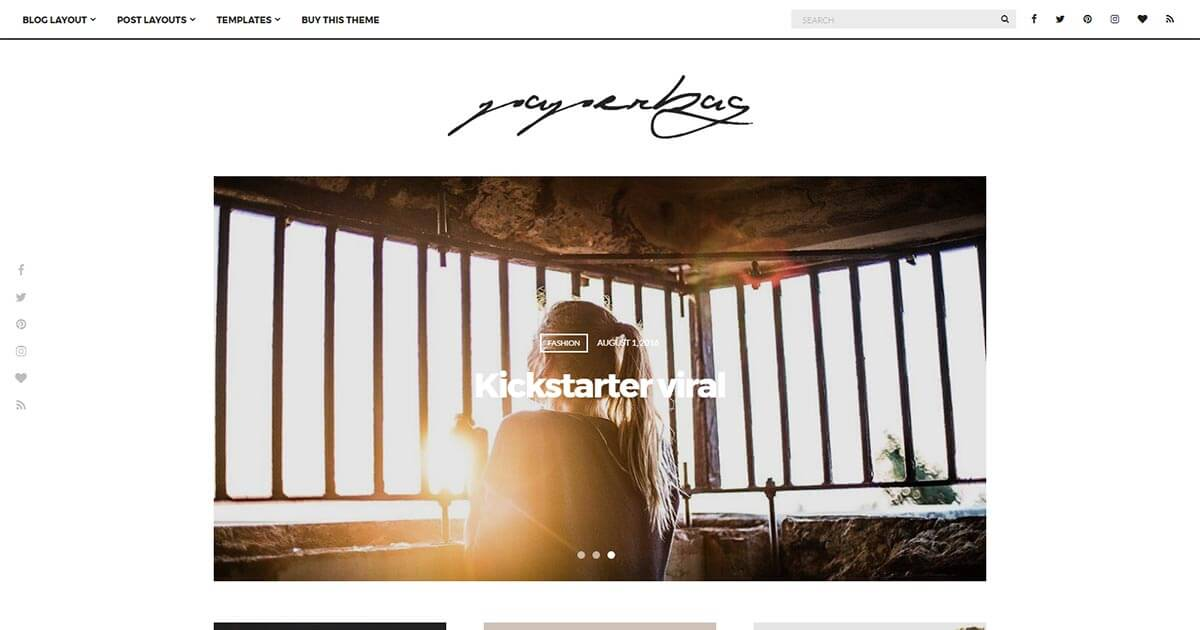 Paperbag - Blogging WordPress Theme | Website Template