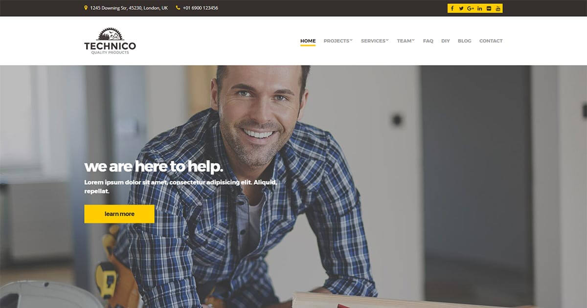 Technico - Construction WordPress Theme | Website Template